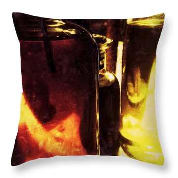 Big Oils Throw Pillow by Olivier Calas