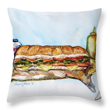 Big Ol Samich Throw Pillow by Shana Rowe Jackson