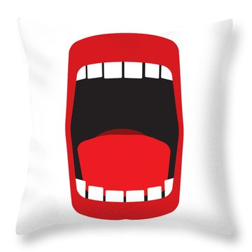 Big Open Mouth  Throw Pillow