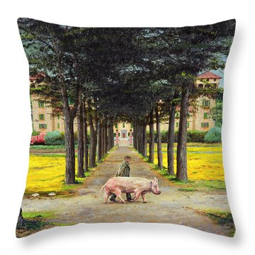 Big Pig, Pistoia, Tuscany  Throw Pillow
