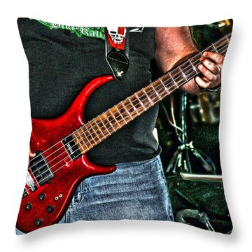 Throw Pillow featuring the photograph Big Red Tobias by Lesa Fine