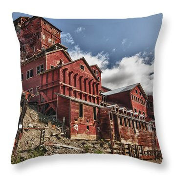 Big Red Mine Throw Pillow