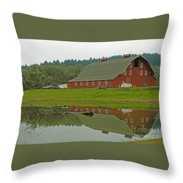 Throw Pillow featuring the photograph Big Red by Nick  Boren