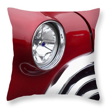 Big Red Oldsmobile Throw Pillow