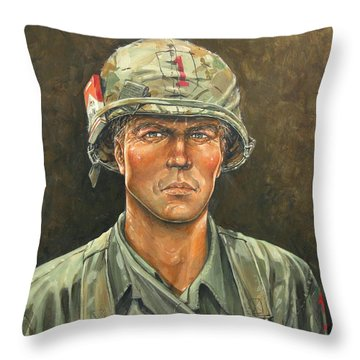 Big Red One 11bravo Throw Pillow