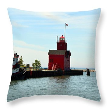 Big Red Panorama Throw Pillow