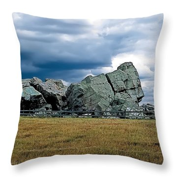 Big Rock 2 Throw Pillow by Terry Reynoldson