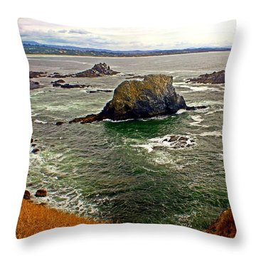 Big Rock Beach Throw Pillow by Marty Koch