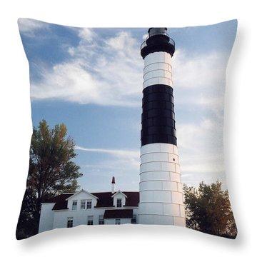 Big Sable Lighthouse Throw Pillow
