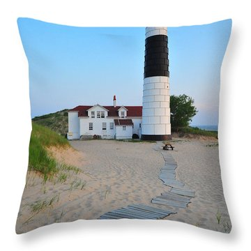 Big Sable Point Great Lakes Lighthouse Throw Pillow