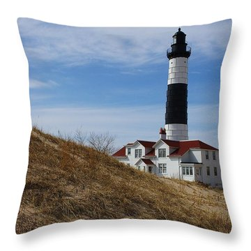 Throw Pillow featuring the photograph Big Sable by Randy Pollard