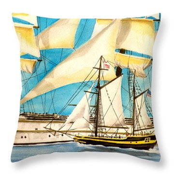 Big Ship Little Ship Throw Pillow