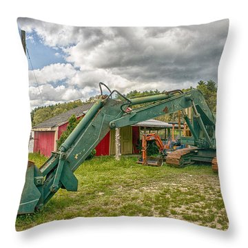 Throw Pillow featuring the photograph Big Shovel For A Small Berry by Constantine Gregory