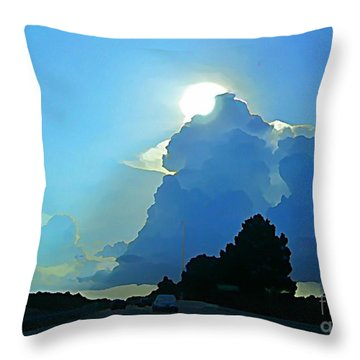 Big Sky Blue Throw Pillow by John Malone