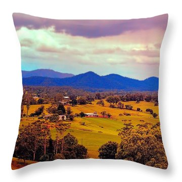 Throw Pillow featuring the photograph Big Sky Country by Wallaroo Images