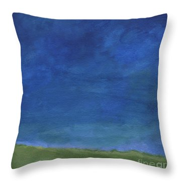 Big Sky Throw Pillow by Linda Woods