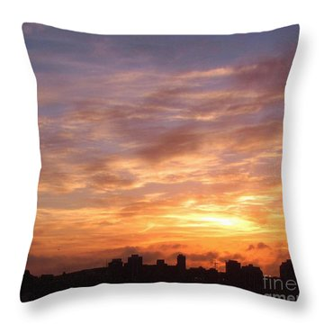 Big Sky Over Halifax Harbour Throw Pillow by John Malone