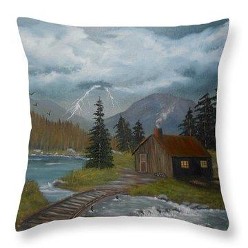 Big Storms A Comin' Throw Pillow