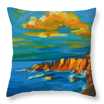 Big Sur At The West Coast Of California Throw Pillow