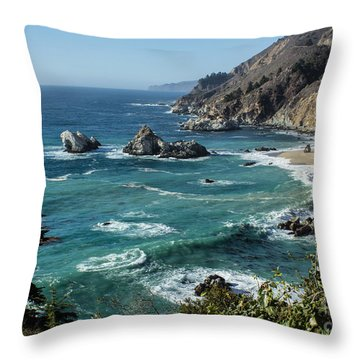 Big Sur Coast From Julia Pfeiffer Burns Throw Pillow