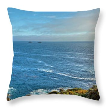 Big Sur Coast Pano 2 Throw Pillow