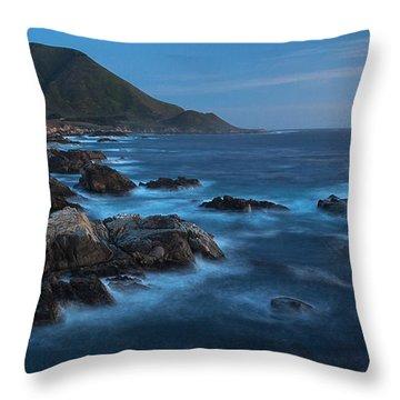 Big Sur Coastline Throw Pillow by Mike Reid