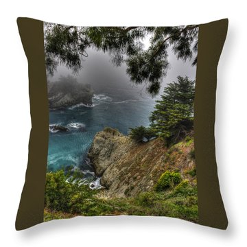 Big Sur Julia Pfeiffer State Park-1 Central California Coast Spring Early Afternoon Throw Pillow