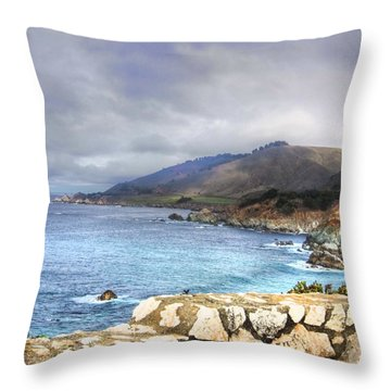 Throw Pillow featuring the photograph Big Sur by Kandy Hurley