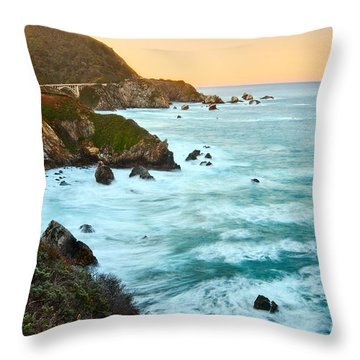 Big Sur Sunrise Throw Pillow by Jamie Pham