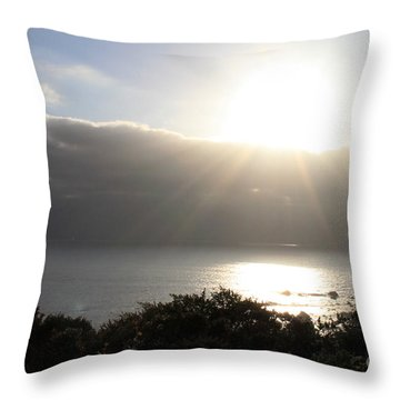 Big Sur Sunset Throw Pillow by Linda Woods