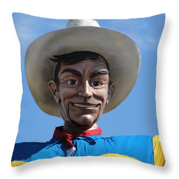 Big Tex Throw Pillow