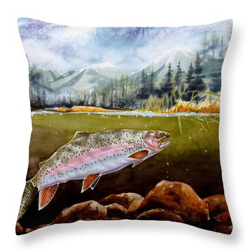 Big Thompson Trout Throw Pillow
