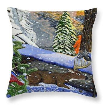 Big Timber Buck Throw Pillow