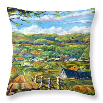 Big Valley By Prankearts Throw Pillow by Richard T Pranke