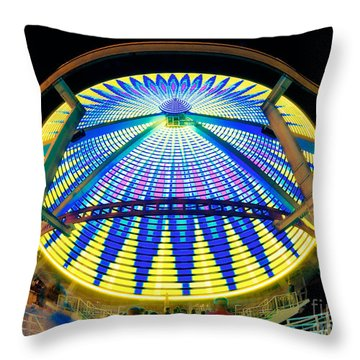 Big Wheel Keep On Turning Throw Pillow