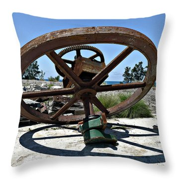 Big Wheel Throw Pillow by Richard Reeve