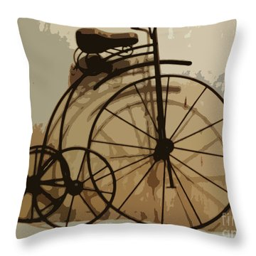 Throw Pillow featuring the photograph Big Wheel Trike by Ecinja Art Works