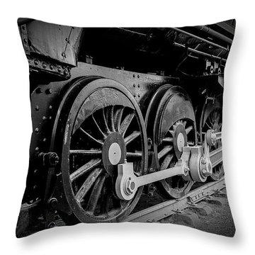 Big Wheels Throw Pillow by Herbert Seiffert