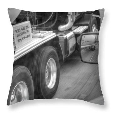 Big Wheels Keep Turning  Throw Pillow