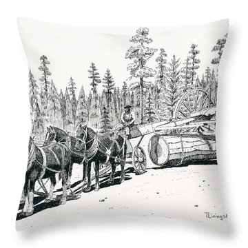 Big Wheels Throw Pillow