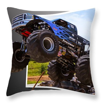 Bigfoot Out Of Frame Throw Pillow by Doug Long