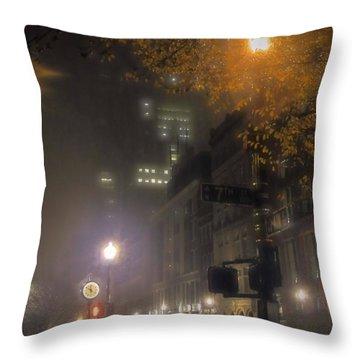 Throw Pillow featuring the photograph Bigga Mist by Robert McCubbin