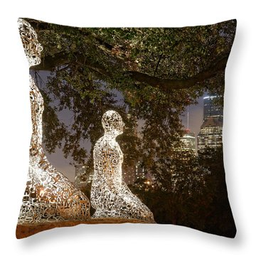 Bigger Than The Sum Of Our Parts - Tolerance Sculptures Downtown Houston Texas Throw Pillow