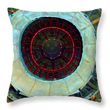 Bight Jet Throw Pillow by Sally Simon