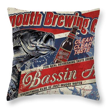 Bigmouth Brewing Throw Pillow by JQ Licensing
