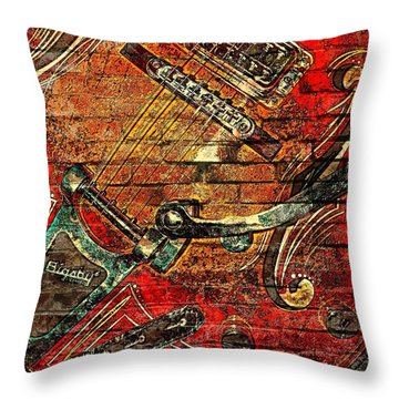 Bigsby Faux Mural Throw Pillow