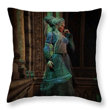 Bijou Stained Glass Throw Pillow