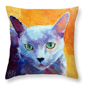 Bijou Throw Pillow by Susan Woodward