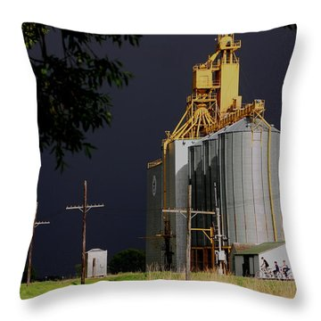 Bike Out After The Storm Throw Pillow