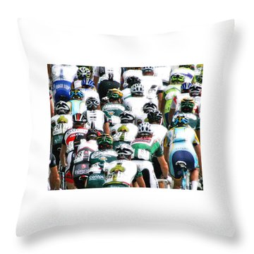 Throw Pillow featuring the photograph Bike Race Image by Christopher McKenzie